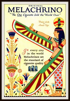 Melachrino Egyptian Cigarettes Vintage 1920s Ad on Etsy, £17.22
