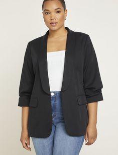 45fc662750b Essential Soft Blazer with Gathered Sleeve