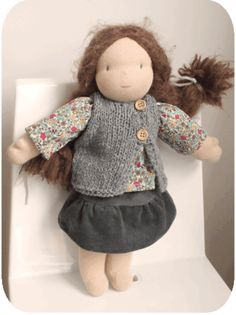 doll vest pattern in french