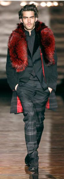 by Roberto Verino love the coat!  And the fur scarf transforms him. #MenInFur #fur #fashion