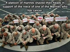 OUR MILITARY IS MADE UP OF UNSELFISH GOOD HEARTED MEN AND WOMEN