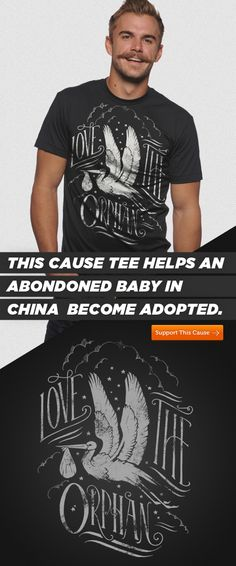 This week we are helping babies in China become adopted! What do you think about the design? #Design #Typography