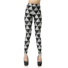Black and White Triangle Print Leggings