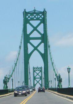 Mt.Hope Bridge, Bristol /Portsmouth RI.  Love this bridge, loved my commute from URI to Bristol
