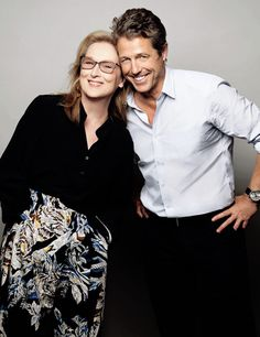 Meryl Streep and Hugh Grant photographed by Brian Bowen Smith.