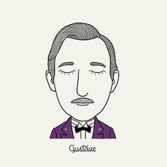 The characters of Wes Anderson, une jolie série d'illustrations rendant hommage aux personnages cultes du réalisateur Wes Anderson, de M. Gustave (Grand Bud