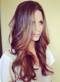 Love this! This is the perfect example of what I want to do with my hair :) #brunette #ombré