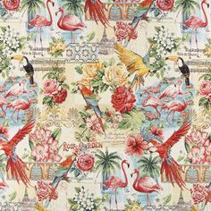 Gobelin Exotic Nature - Baumwolle - Polyester - Polyacryl - Farbmix
