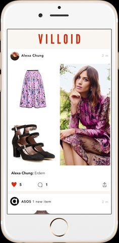 Alexa Chung's Villoid app: similar to Instagram but specifically for fashionLUXURY NEWS | BEST OF LUXURY | INTERVIEWS | EVENT CALENDAR