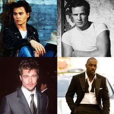 Johnny Depp, Brad Pitt, Marlon Brando, Idris Elba