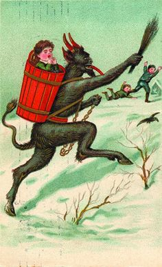 Krampus Greeting Cards: Monte Beauchamp