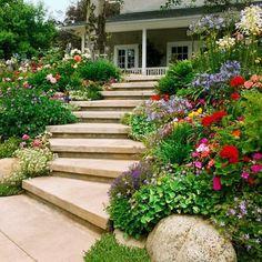 modernen vorgarten gestalten ideen gebogene treppe