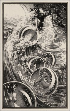 layout of bubbles and ocean, not subject matter