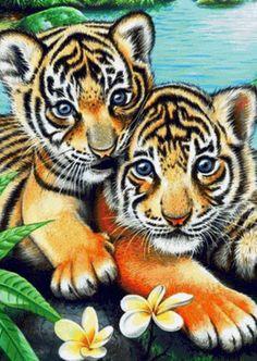 Тигрята - Схемы вышивки - 2009Gelya - Авторы - Портал «Вышивка крестом»