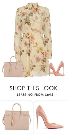 """""""Spring!"""" by cristalmichel ❤ liked on Polyvore featuring Yves Saint Laurent and Christian Louboutin"""