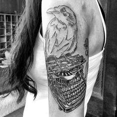 Literary Tattoo Edgar Allan Poe