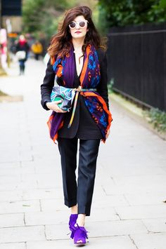 50 New Outfit Ideas You're Going to Freak Out Over via @WhoWhatWear/// On Valentina Siragusa: Burberry Book Cover Print Leather Pouch ($1295).