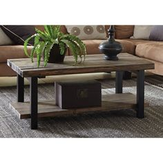 Alaterre Pomona Reclaimed Wood and Metal 42-inch Coffee Table | Overstock.com Shopping - The Best Deals on Coffee, Sofa & End Tables