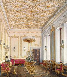 The Empress's Cabinet, Hermitage, Edward Petrovich Hau