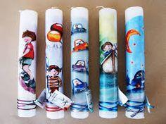 Αποτέλεσμα εικόνας για ιδεες για λαμπαδες χειροποιητες Voss Bottle, Water Bottle, Blog, Light Bulb Vase, Easter, Water Bottles, Blogging