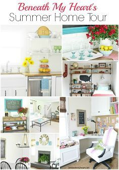 my summer home tour 2014, fireplaces mantels, home decor, living room ideas