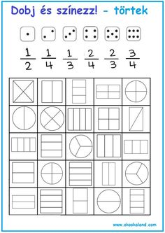 Tanulásmódszertan :: OkosKaLand Lego Math, Math 5, 1st Grade Math, Math Class, Math Games, Math Activities, Fractions Worksheets, Math Fractions, Math Tutorials