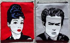 Audrey Hepburn & James Dean Make-up Bag