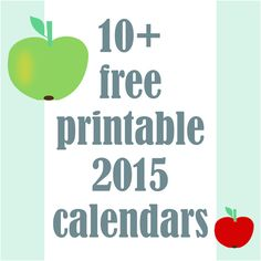 ☞ 10+ free printable 2015 calendars - ausdruckbare Kalender 2015 - links | MeinLilaPark – DIY printables and downloads