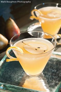 Glazed Pear Martini from @National Honey Board