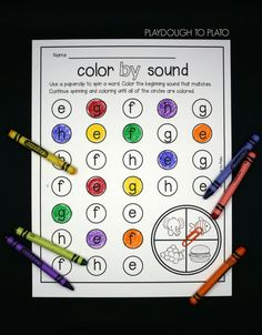 Spin a word and color the beginning sound that matches. Fun beginning sound activity for preschool or kindergarten!