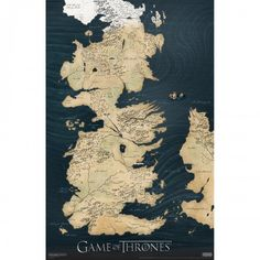 Game of Thrones Westeros Map Poster [11x17] - $7.99
