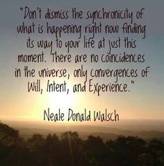 Neale Donald Walsh. Coincidence, Synchronicity