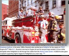steve buscemi helping the fire dept out in the aftermath of 9/11