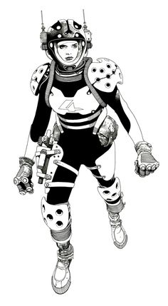 Space Girl Art by Travis Charest Character Concept, Character Art, Concept Art, Character Design, Comic Book Artists, Comic Artist, Comic Books Art, Character Illustration, Illustration Art