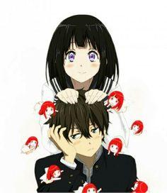 Chitanda and Oreki ~ lol its cute Hyouka Chitanda, Nisekoi, Manga Art, Manga Anime, Anime Art, Otaku, Romantic Manga, Kyoto Animation, I Love Anime