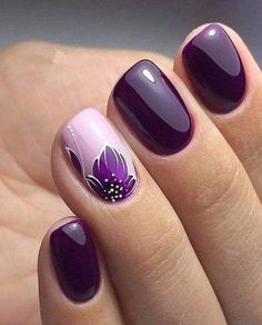 Stylish Nail Art Design & Images Easy to do at Your Home - Naildesign Fullcover . - Stylish Nail Art Design & Images Easy to do at Your Home – Naildesign Fullcover – - Stylish Nails, Trendy Nails, Winter Nails, Summer Nails, Spring Nails, Nail Art Designs Images, Nagellack Design, Purple Nail Art, Purple Glitter