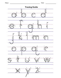 Fun Learning with ABC Tracing Worksheets Alphabet Tracing Worksheets, Cursive Alphabet, Alphabet Writing, Preschool Writing, Handwriting Worksheets, Alphabet For Kids, Alphabet Worksheets, Alphabet Activities, Learning Letters