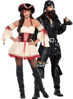 First Mate and Plundering Pirate Couples Costumes - Classic Costumes - Couples Costumes - Couples, Group Costumes - Halloween Costumes - Categories - Party City Canada Fairy Halloween Costumes, Holiday Costumes, Halloween Inspo, Candy Costumes, Group Costumes, Witch Doctor Costume, Funny Couple Costumes, Horror Costume, Halloween Party Supplies