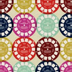 Viewmaster fabric, cream colorway, from the Ruby Star Rising line by Melody Miller.  Japanese import.  So hard to find, but I want it so bad.
