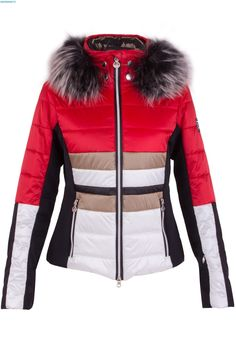 Sportalm Women Destiny SN with Hood and Fur - Mars Red
