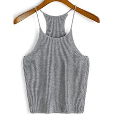 Grey Knit Top Spaghetti strap cami top. Very similar to Brandy Melville Edel Knit Tank. Brandy Melville Tops Tank Tops