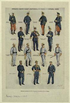 The Spanish American War, American History, Military Art, Military History, Military Tactics, Guerra Hispano-americana, Navy Uniforms, Military Uniforms, Treaty Of Paris