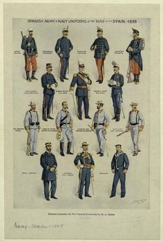 1898 Spanish American War Uniforms of Spain