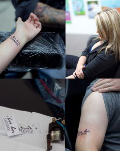 His & Her Tattoos  I love him/her with date