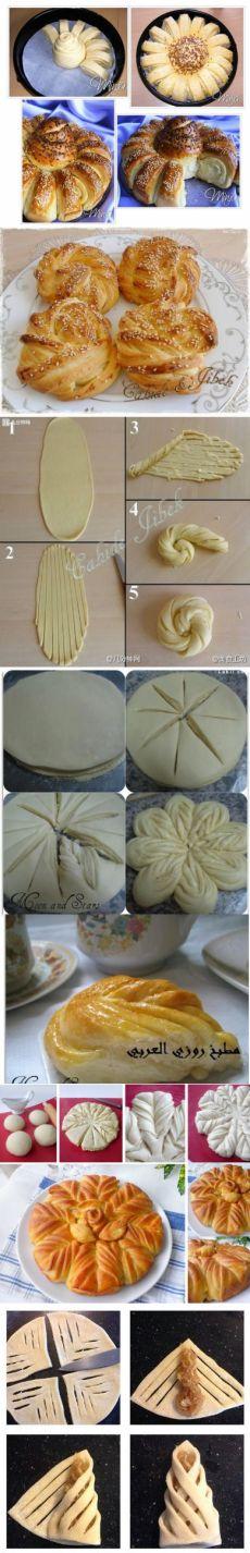 Как сделать красивые булочки: новая подборка креативной разделки теста | Четыре вкуса