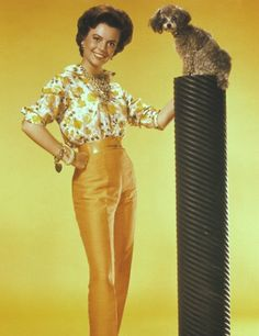 0 natalie wood with her poodle
