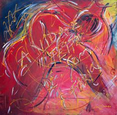 """""""A vida é feita de som e fúria"""", pintura de Francisco Milhorança. 1,25 m alt x 1,27 m larg. Exposição na galeria Rede Arte Contemporânea."""