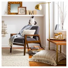 Modern Globe Floor Lamp Brassy Gold - Threshold™ : Target