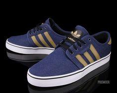 adidas Skateboarding Seeley-Uniform Blue-Craft Canvas-Black #sneakers #kicks