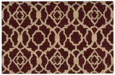 Waverly Greetings Lovely Lattice Rust Doormat by Nourison